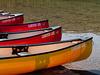 Canoes at Cameron Lake, Waterton