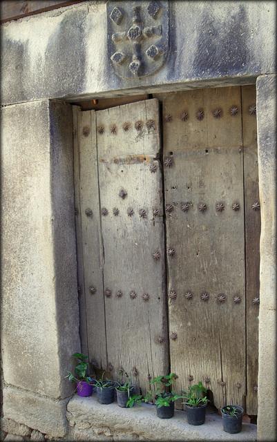 Venerable door, probably not much in use!