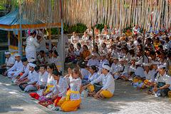 In the courtyard of Pura Ratu Niang Sakti