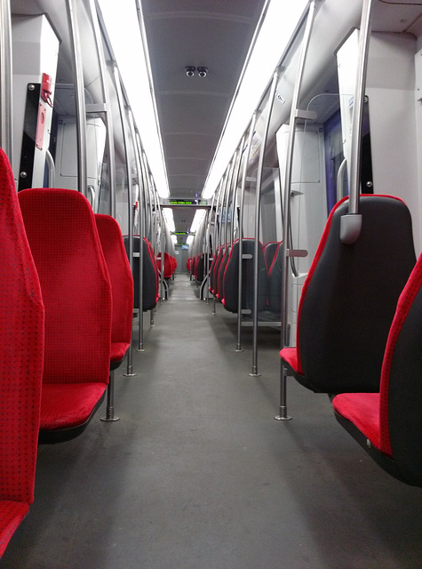 Interior of the Rotterdam metro