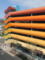 Beloved colorful 1989 parking of downtown East Lansing.
