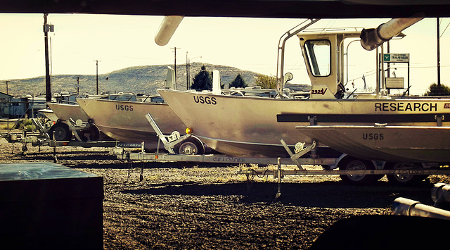 Research boats, USGS