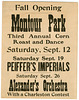 Montour Park Fall Opening—Third Annual Corn Roast and Dance, Danville, Pa.