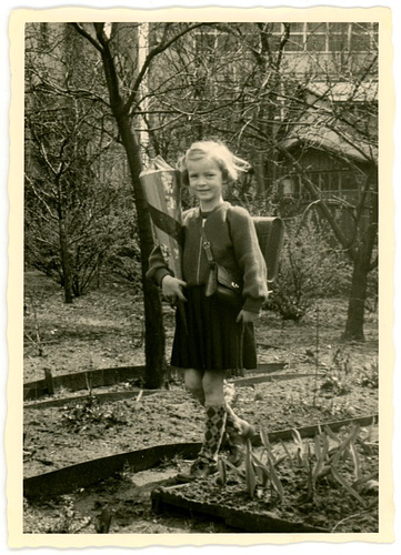 Girl with Schultüte, 1955