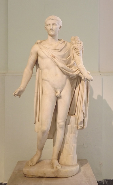 Male Figure Restored as Augustus in the Naples Archaeological Museum, July 2012