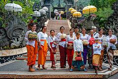 Balinese group in Pura Melanting