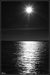 Coucher de soleil sur l'étang de Thau