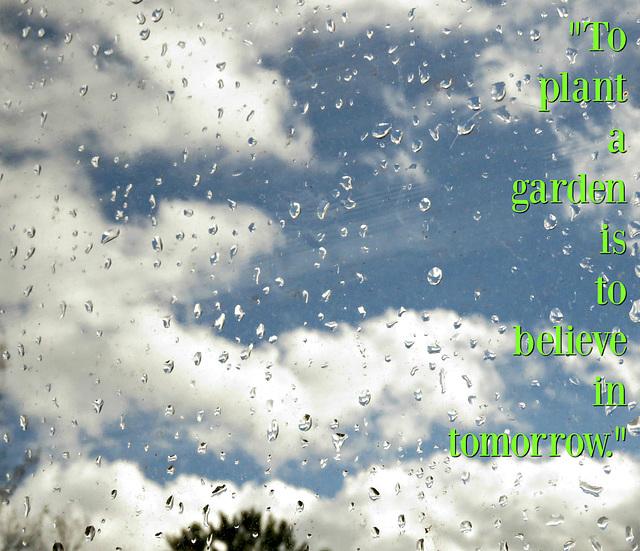 .. rain must fall