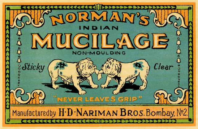 Norman's Indian Mucilage, Bombay, India