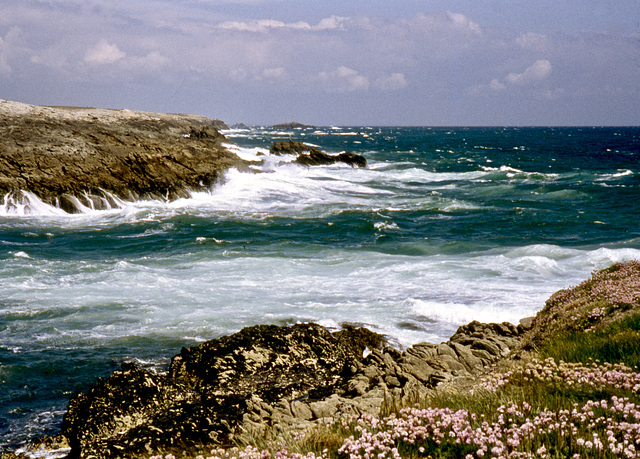 Meer und Wellen an der Halbinsel Quiberon