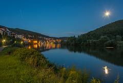 Abendlicher Blick auf Neckarsteinach