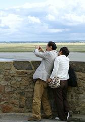 Photographer at Mont Saint Michel