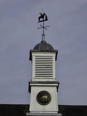 Clock tower, wind vane