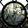 Christ Taking Leave of his Mother- Stained Glass Roundel in the Cloisters, October 2017