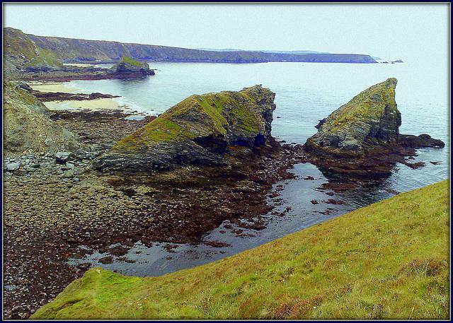 Porthcadjack - very low tide.
