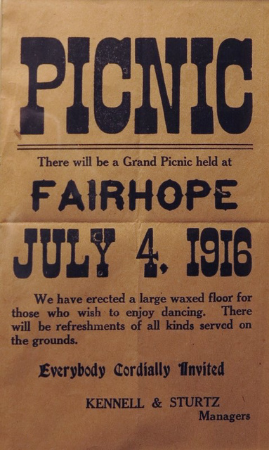Grand Picnic, Fairhope, Pa., July 4, 1916
