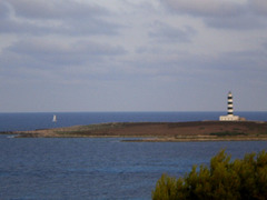 Island del Aire and lighthouse.