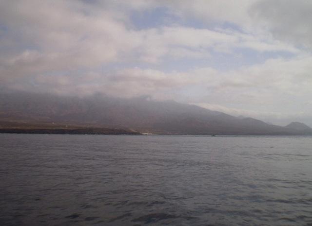 Approaching Santo Antão Island.