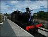 engine at Littlehempston Station