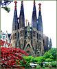 Barcellona : La Sagrada Familia - vista posteriore