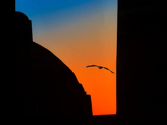 Bukhara. Sunset at Ancient Town. 201509