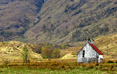 This Glen Affric cottage has seen better days