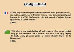 Daily Mail, Langue unique, Unika lingvo, CEE, EEK
