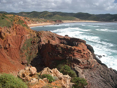Blick zur Praia do Amado