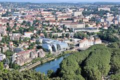 Besançon (25) 23 juillet 2013. Vue sur la ville depuis le Fort Chaudanne.