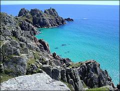 The Cornish coast near Porthcurno