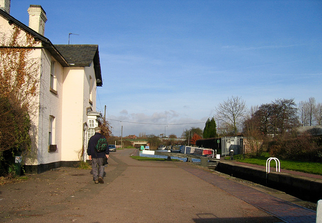 Rushall Canal at Rushall Top Lock.