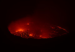 Congo, Lava Lake in the Crater of Nyiragongo Volcano