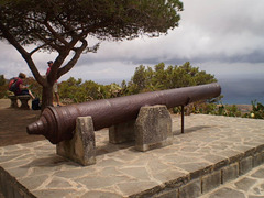 Old cannon.