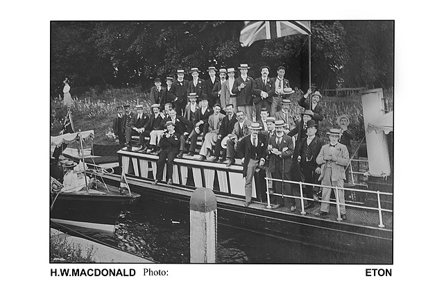 River excursion possibly near Eton by H.W.Macdonald