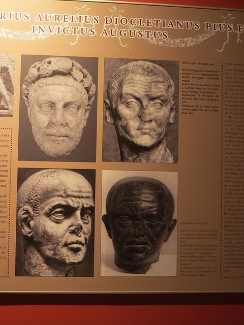 Musée de la ville de Split : bustes de Dioclétien.