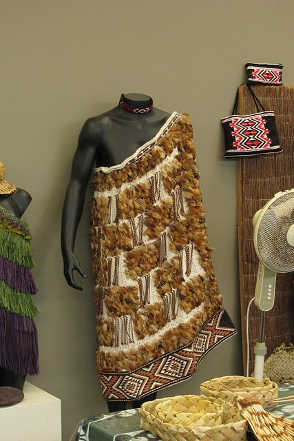 Traditional Maori garment made for sale by students at the Maori Cultural School in Rotorua