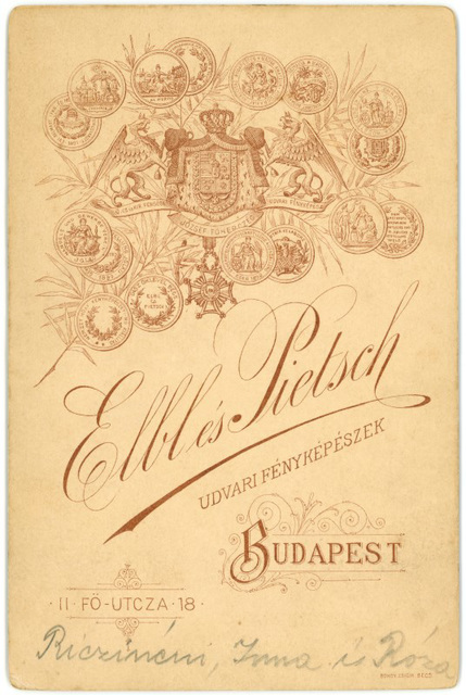 Elbl and Pietsch Cabinet Card Backmark