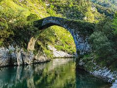 Puente La Vidre.  Rio Cares.  Asturias.