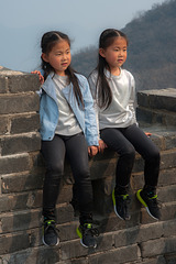 Chinese twins at the Great Wall