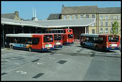 arriving at Lancaster Bus Station