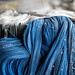 weaving blue hair