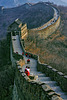 View down the watchtower on the Great Wall