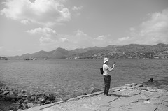 Scene with photographer at Spinalonga