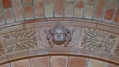 Engelskopf aus Terracotta