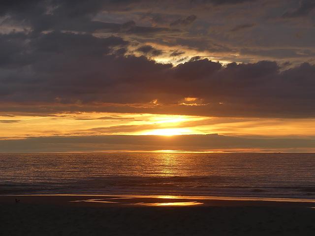Sunset Westende Belgium