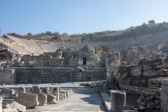 20151207 9769VRAw [R~TR] Großes Theater, Ephesos, Selcuk
