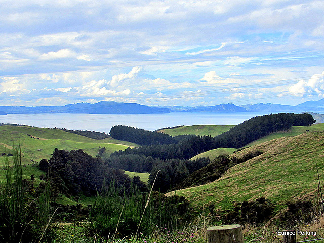 View of Lake Taupo.