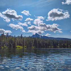 On Diamond Lake with a View of Mt. Thielson