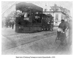 Cherbourg steam en route to Equeurdreville c 1913 by HTS probably