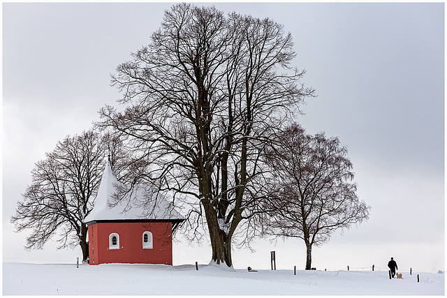 Wintertime: At the red chapel